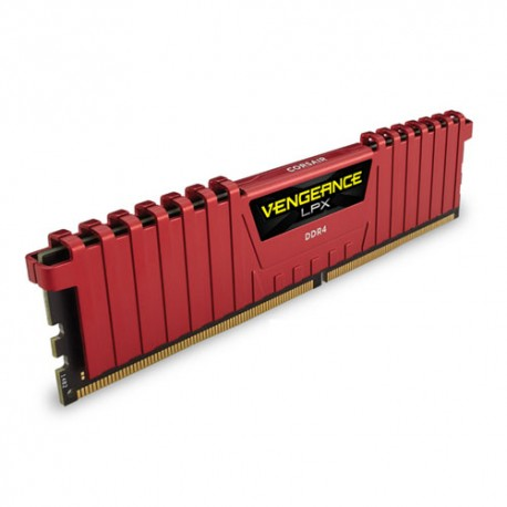 Mémoire DDR4 2400 MHz 4Go (1x4G) Red Corsair
