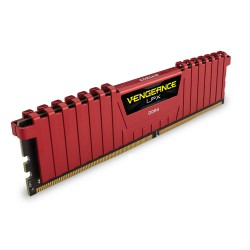 Mémoire DDR4 2400 MHz 8Go (1x8G) Red Corsair
